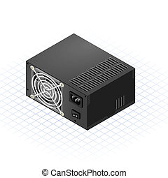 Isometric Power Supply - This image is a power supply of a...