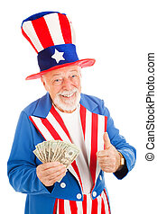 Uncle Sam - Economic Recovery - American icon Uncle Sam...