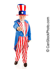 Uncle Sam Wants You - Full Body - Full body isolated view of...