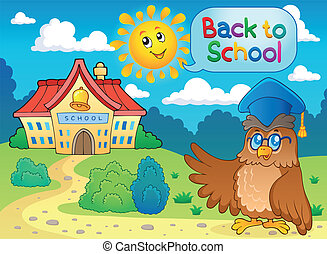 Back to school thematic image 6 - eps10 vector illustration