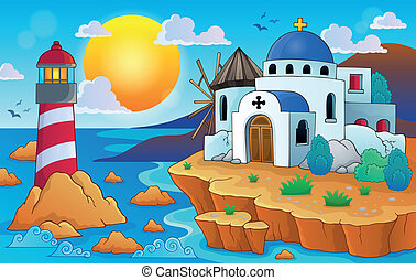 Greek theme image 7 - eps10 vector illustration