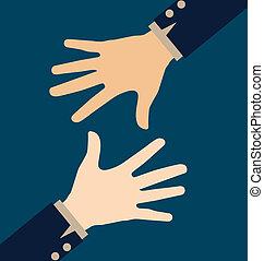 Hands. Vector illustration.