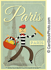 French Retro Card
