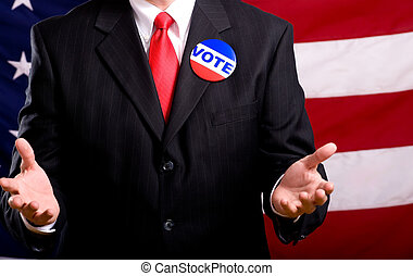 Politician - A politician or business man standing in front...