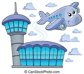 Image with airplane theme 6 - eps10 vector illustration