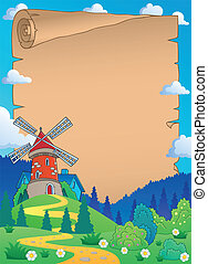 Parchment with windmill 1