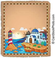 Parchment with Greek theme 2 - eps10 vector illustration.