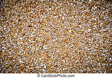 Concrete wall with mini rock surface stock photo