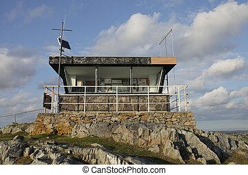 Disused coastguard station. - A disused coastguard station...