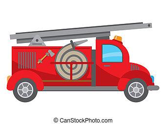 Fire truck cartoon