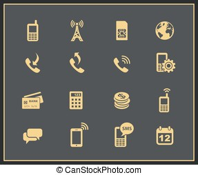 Mobile account management icons Vector illustration