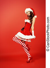 merry xmas - Full length portrait of an attractive young...