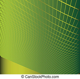Wave abstract background green