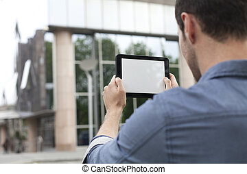 photography with digital tablet