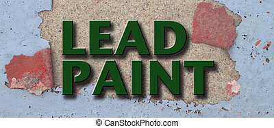 Lead Paint Illustration - Lead poisoning illustration on...
