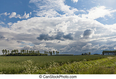 Lincolnshire wolds - Linvolnshire Wolds with clouds after...