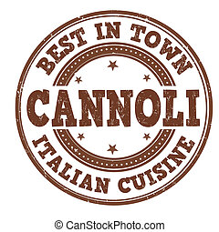 Cannoli stamp - Cannoli grunge rubber stamp on white, vector...