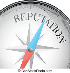 compass reputation - detailed illustration of a compass with...