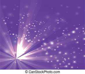 A purple color design with a burst