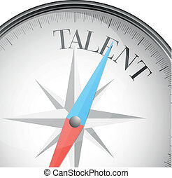 compass talent - detailed illustration of a compass with...