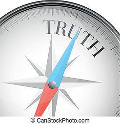 compass truth - detailed illustration of a compass with...