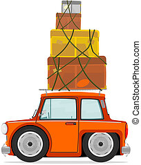 Car and boxes
