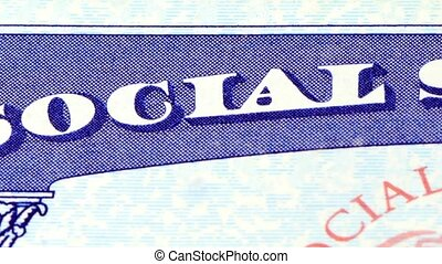 Social security card identification - United States citizen...