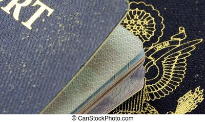 USA Passport travel documents - United States of America...