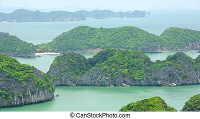 limestone mountain islands, Halong Bay, Vietnam