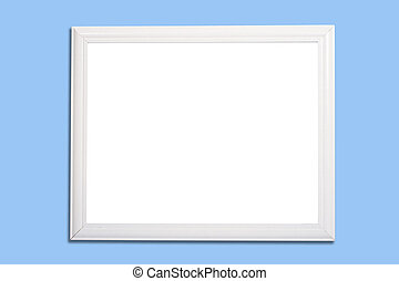 White Frame or marker board on Blue - A white frame on blue...