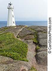 Cape Spear lighthouse, rocky path - Cape Spear lighthouse...