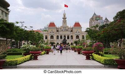 daily life at city center, saigon, vietnam