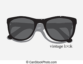 Retro eyewear - A vector illustration of retro style vintage...