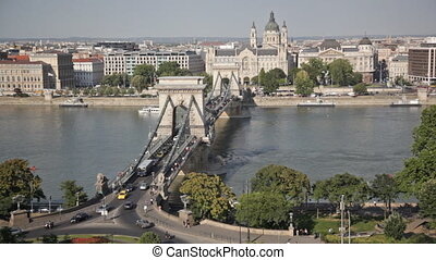 Hungary, Budapest, view of Sacred Stephanes basilica