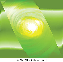 Light green spiral abstract design