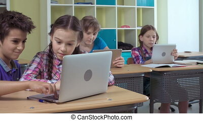 Geeky Kids - Pupils using information technology facilities...