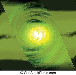 Dark green spiral abstract design