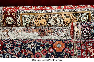 Ehtnic carpets texture, Amman, Jordan