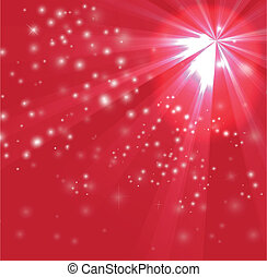 Red color design with a burst and rays