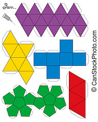 Platonic Solids Paper Model Templat
