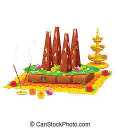 Decorated onathappan for Onam celebration - illustration of...