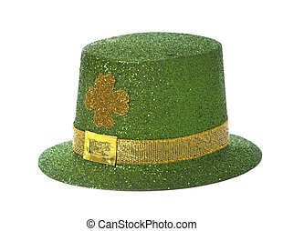 St. Patricks Day Hat - St. Patricks day hat on a white...