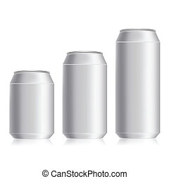 drink cans - colorful illustration with drink cans on a...