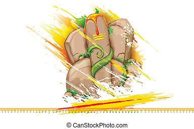 Lord Ganesha made of rock for Ganesh Chaturthi -...