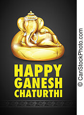 Lord Ganesha made of gold for Ganesh Chaturthi -...