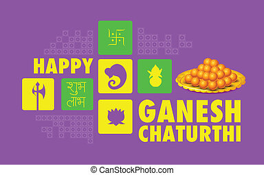 Happy Ganesh Chaturthi background - illustration of Happy...
