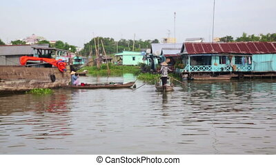 Ordinary life around mekong delta