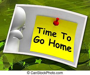 tiempo, a, ir, hogar, foto, medios, salida, borracho, o,...