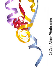 Ribbon Streamers - Colorful, curly, ribbon streamers on a...