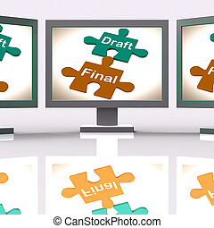 Draft Final Puzzle Shows Write And Rewrite - Draft Final...